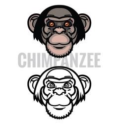Monkey head vector