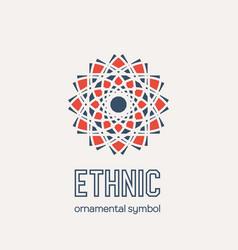 Mosaic rhomb emblem vector
