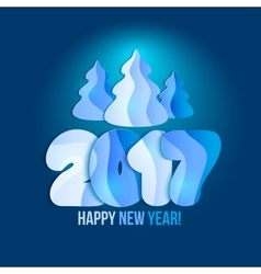 New Year 2017 greeting card vector image