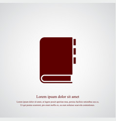 notebook icon simple vector image vector image