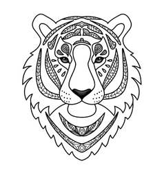 Ornamental White Tiger vector image