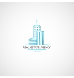 Real estate agency vector image vector image