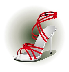 red high heels vector image