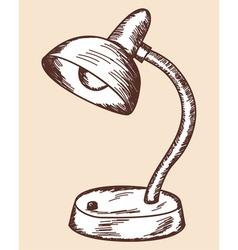 School props lamp vector