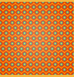 seamless geometric pattern on orange background vector image