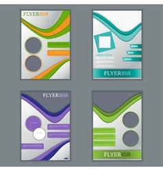set of vertical flyers for design vector image