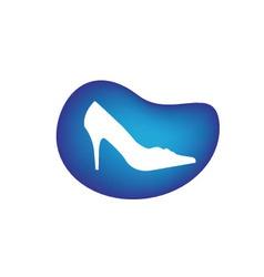 Shoe logo vector image vector image