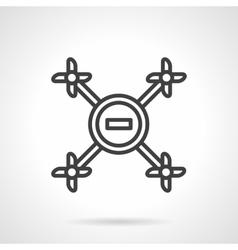 Simple line drone icon vector