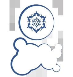 Snowflake and textbox vector