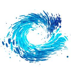 Splash round water vector