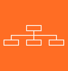 Structure simple flat icon on orange background vector
