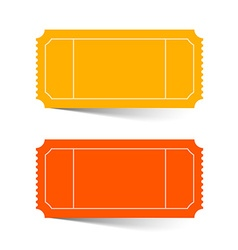 Tickets Set - Red and Orange Isolated on Whi vector image vector image