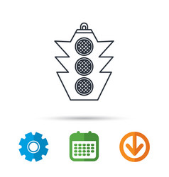 traffic light icon safety direction regulate vector image