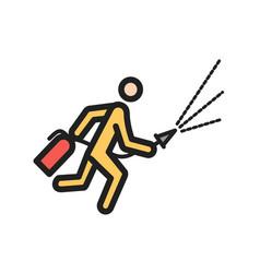Using extinguisher vector
