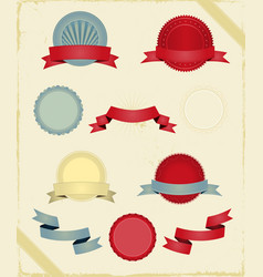 vintage ribbons and banners series vector image vector image