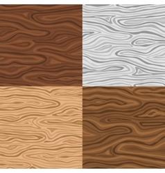 Wooden seamless backgrounds set vector