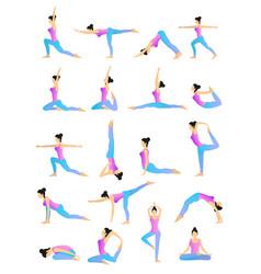 yoga position set vector image