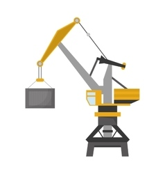 Industrial crane icon vector
