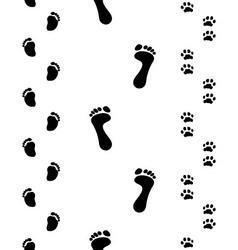 Footprints seamless vector