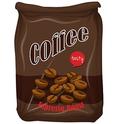 Bag of coffee espresso roast vector