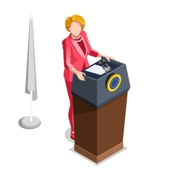 Election infographic politics work isometric vector