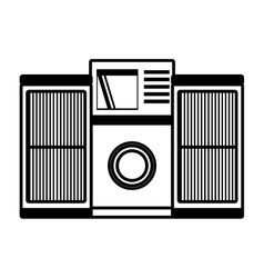 Tape recorder mp3 music home appliance outline vector