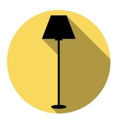 lamp simple sign  flat black icon with vector image