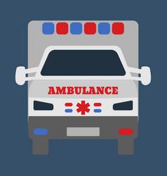 ambulance car medical object flat icon vector image