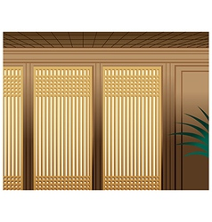 Asian bamboo interior vector