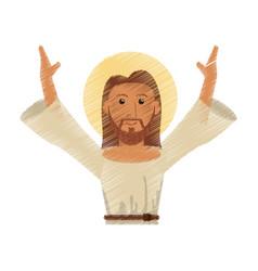Drawing jesus christ design vector