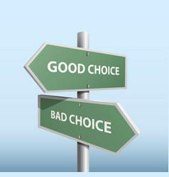 Column direction good bad choice vector