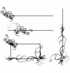 Design scrolls vector