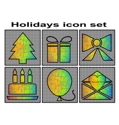 Holidays icon vector