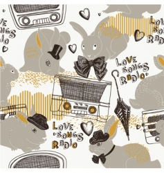 Radio love songs vector