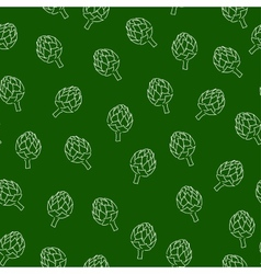 Vitamin artichoke doodle pattern for kitchen vector