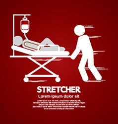 Medical workers moving patient on stretcher vector