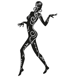 Dance of ethnic woman vector