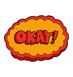 Comic cartoon okay sign vector