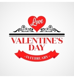 Happy valentine day typographical background vector