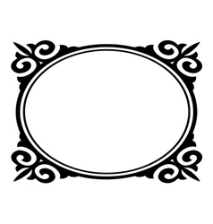 oval ornamental frame vector image