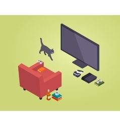 Isometric gamer seat vector