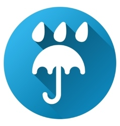 Rain protection umbrella gradient round vector