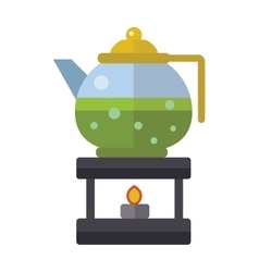 Chinese tea symbols traditional eastern vector