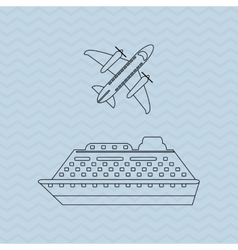 Ship and travel icon design vector