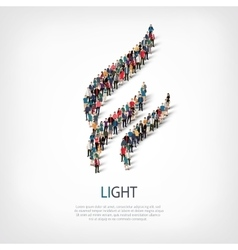 light people sign 3d vector image