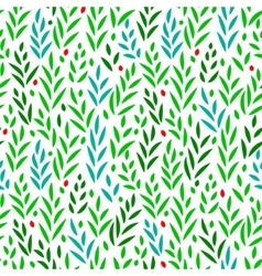 Subtle green leaves floral seamless pattern on vector