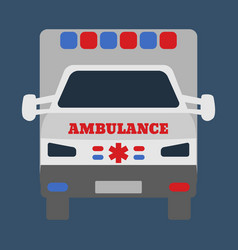 ambulance car medical object flat icon vector image vector image