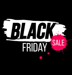 Black friday banner with paint splash vector
