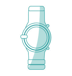 Blue silhouette shading smartwatch with electronic vector