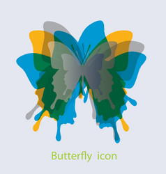 butterfly icon in biology concept vector image vector image